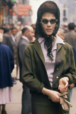 Fashion Model Brigitte Wasserman Walks Along 7th Avenue, New York, New York, 1960 Photographic Print by Walter Sanders