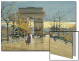 Arc de Triumphe Prints by Eugene Galien-Laloue