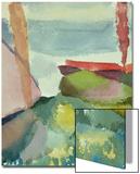 The Seaside in the Rain; See Ufer Bei Regen Kunstdrucke von Paul Klee