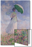 Woman with a Parasol Turned to the Right, 1886 Plakat av Claude Monet
