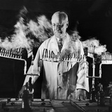 Doctor Evarts Graham Conducting Research on Cigarette Smoking and Lung Cancer, 1953 Photographic Print by Fritz Goro