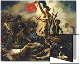La Libertad guiando al pueblo, 28 de julio de 1830 Lámina por Eugene Delacroix