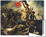 Liberty Leading the People, 28 July 1830 Print by Eugene Delacroix