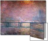 The Thames at Charing Cross, 1903 Poster av Claude Monet