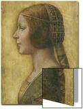 Profile of a Young Fiancee Prints by  Leonardo da Vinci
