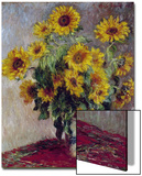 Still Life with Sunflowers, 1880 Poster by Claude Monet