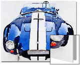 1962 AC Cobra Shelby Watercolor Prints by  NaxArt