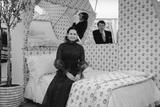 Heiress and Fashion Designer Gloria Vanderbilt with Husband Wyatt Cooper, New York, 1974 Photographic Print by Alfred Eisenstaedt
