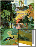 Matamoe Or, Landscape with Peacocks, 1892 Affiches par Paul Gauguin
