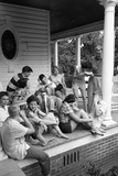 Lina Mccarroll Hosts 15 Visitors During Hospitality Weekend, Warrenton, North Carolina, 1951 Photographic Print by Lisa Larsen