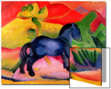 Little Blue Horse, 1912 Poster by Franz Marc