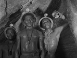 Gold Miners in Robinson Deep Diamond Mine Tunnel, Johannesburg, South Africa, 1950 Photographic Print by Margaret Bourke-White