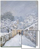 Snow at Louveciennes, 1878 Kunstdrucke von Alfred Sisley