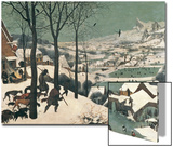 Jäger im Schnee, Februar, 1565 Kunstdrucke von Pieter Bruegel the Elder