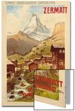 Zermatt, c.1900 Art by Anton Reckziegel