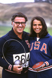 Olympic Athletes Harold Connolly and His Wife Olga in Los Angeles Pre-Olympics 1972 Photographic Print by Bill Eppridge