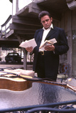 August 1969: Country Singer Johnny Cash Outside His Home Near Nashville, Tennessee Fotodruck von Michael Rougier