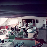 Cocktail Party on Deck of Famous Yacht 'Christina O' Owned by Shipping Magnate Aristotle Onassis Photographic Print by Dmitri Kessel