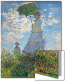 Woman with a Parasol - Madame Monet and Her Son, 1875 Prints by Claude Monet
