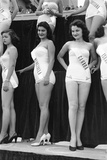 First Miss Universe Contest, Miss Venezuela and Miss Canada, Long Beach, CA, 1952 Photographic Print by George Silk