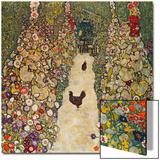 Garden Path with Chickens, 1916, Burned at Schloss Immendorf in 1945 Affiches par Gustav Klimt