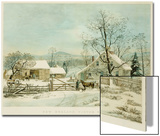 New England Winter Scene, 1861, Currier and Ives, Publishers Affiches par Mary Cassatt