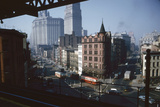 View of Chatham Square as Seen from the Third Avenue Line, New York, New York, 1955 Photographic Print by Eliot Elisofon