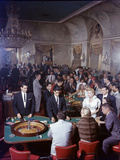 February 11, 1957: Tourists Gambling at the Nacional Hotel in Havana, Cuba Photographic Print by Ralph Morse