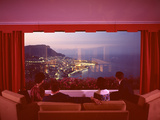 Panoramic View from the Vistaero Hotel Perched on the Edge of a Cliff Above Monte Carlo, Monaco Photographic Print by Ralph Crane