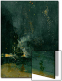 The Falling Rocket, 1875 (Oil on Panel) Posters by James Abbott McNeill Whistler