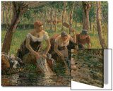 Les Lavandieres, the Washerwomen, 1895 Posters by Camille Pissarro