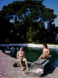 December 1946: Swimmers Relaxing by the Pool at Shaw Park Resort Hotel in Ocho Rios, Jamaica Photographic Print by Eliot Elisofon