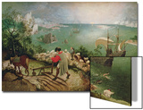 Landscape with the Fall of Icarus, circa 1555 Posters by Pieter Bruegel the Elder