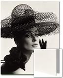 Tania Mallet in a Madame Paulette Stiffened Net Picture Hat, 1963 Kunstdruck von John French