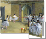 The Dance Foyer at the Opera on the Rue Le Peletier, 1872 Prints by Edgar Degas