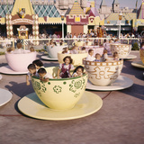 "July 17 1955: ""Mad Hatter's Tea Party"" Ride at Disneyland Amusement Park, Anaheim, California Photographic Print by Loomis Dean"