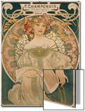 Poster for F. Champenois, 1897 Art by Alphonse Mucha