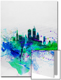 Boston Watercolor Skyline Print by  NaxArt