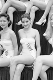 1st Miss Universe Contest, Miss Hong Kong Judy Dan and Miss India Indrani Rahman, CA, 1952 Photographic Print by George Silk