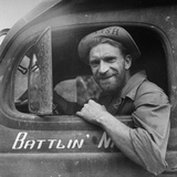 Portrait of Us Army Ambulance Driver Ea Nashlund (Of Portland, Oregon), Ledo Road, Burma, July 1944 Photographic Print by Bernard Hoffman