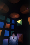 American Designer Ken Isaacs Inside His Invention, the Knowledge Box, Chicago, IL, 1962 Photographic Print by Robert Kelley