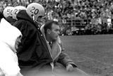 Players and their Coach, Murray Warmath, Minnesota-Iowa Game, Minneapolis, November 1960 Photographic Print by Francis Miller