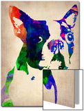 Boston Terrier Watercolor Prints by  NaxArt