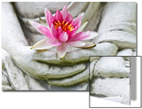 Buddha Hands Holding Flower Prints by  anitasstudio