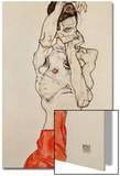 Standing Male Nude with Red Loincloth, 1914 Poster by Egon Schiele