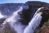 Iquassu (Iguacu) Falls on Brazil-Argentina Border, Once known as Santa Maria Falls Photographic Print by Paul Schutzer
