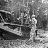 Brigadier General Lewis a Pick Speaks to Sgt William a King, Ledo Road, Burma, July 1944 Photographic Print by Bernard Hoffman