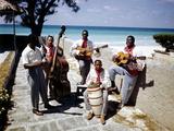 December 1946: Band at the Kastillito Club in Veradero Beach Hotel, Cuba Photographic Print by Eliot Elisofon