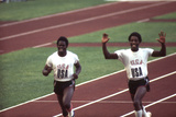 Winners of the 400-Meter Relay Race at the 1972 Summer Olympic Games in Munich, Germany Photographic Print by John Dominis
