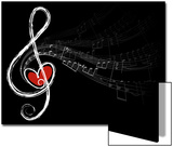 Treble Love and Music Notes Posters by  fat_fa_tin